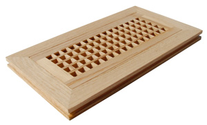 floor registers, floor vents, wood registers, wood floor register